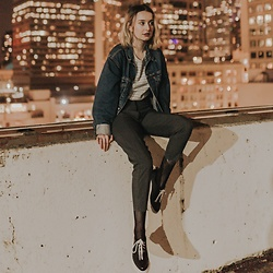 Grace Chapek - Dr. Martens Oxfords, Levi's® Denim Jacket, Uniqlo Striped T Shirt - The City Breathes