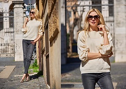 Eleonora Albrecht - Popjulia White Top, Tuum Settedoni Ring - Spring in the city
