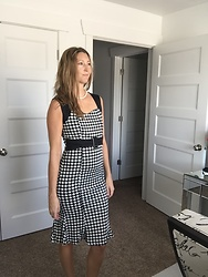 Cindy Batchelor - Chic Houndstooth Mermaid Skirt Dress - Chic Houndstooth Mermaid Skirt Dress