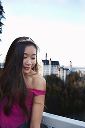Claudia-Kate AY - Nasty Gal Off Shoulder Dress, Tiara - Build your own castle ♡