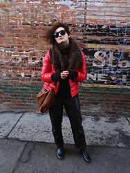 LogicFree - Zerouv Sunglasses, Miss Sixty Coat, Lucky Brand Bag, Aldo Boots - Fuck the wind!