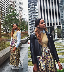 The Highly Expressive - Converse Sneaks, Forever 21 Moto Jacket - Frilly in shinagawa