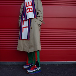 Mushroooooom H - Raf Simons Rafsimons Sneakers, Burberry Trench Coat, Urban Outfitters Muffler - Red line🌹