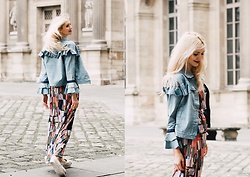 Eleonora Albrecht - Molly Bracken Volant Jacket, Animagemella Printed Dress - Casual and Girlie