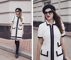 Vita K. - Sonia Rykiel Dress, 7x Hat - Black and white classic