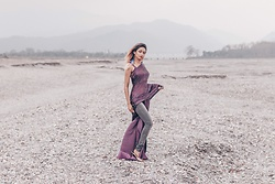 Agnijita Mukherjee - Saree, Vero Moda Jeans - Indian wear fusion