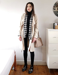Georgia X - Berrylook Houndstooth Jacket, H&M Coat, Kadell Bag, Popjulia Boots - Race to your heart