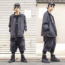 @KiD - Health Death Magic Cap, Toga Nylon Jacket, Cheap Monday Big Tee, P.A.M Sweat Shorts, Puma Mcq - JapaneseTrash358