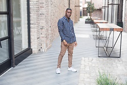 Willie Sparks - H&M Striped Shirt, Zanerobe Chinos - New Classic