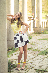 Aevoulette Benssalconia - Fashion Mia Top, Mona Skirt, Gaga Fashion Sandals - Color of Spring