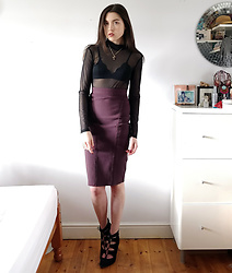 Georgia X - Shein Mesh Bodysuit, Missguided Skirt - Forget about me