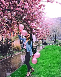 Leona Melíšková - Forever 21 Jacket, Missguided Jeans, New Look Top, H&M Boots - Balloons