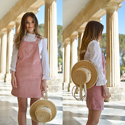 Tamara Bellis - H&M Blouse, Shein Overall Dress, Hat Backpack - Yay For Summer In Corfu
