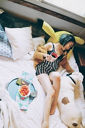 Fei Chung - Hot Topic Pikachu Larege Pillow, Tommy Hilfiger Pillow Cover, Makemechic Jumpsuit - My codding friend