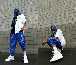 Dominic Grizzelle - Renowned Two Tee, Blackmrkt Track Pants, Adidas Hi Tops - King- PIn