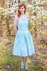 Bleu Avenue - Unique Vintage Hamilton Dress - True Blue Hamilton