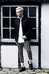Bradley A - Zara Vertical Stripes, Zara Buckle, Vivienne Westwood Tuxedo Shirt - VERTICAL STRIPES