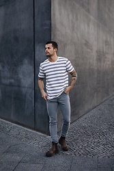 Kevin Elezaj - Dr. Martens Boots, Dr. Denim Jeans, Scotch & Soda T Shirt - May 7