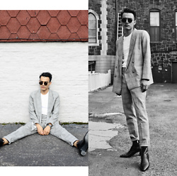Alejandro Cantoral - Celine Sunnies, Topman Suit, Saint Laurent Leather Boots - Sanctify