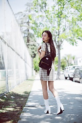 "Amy Marietta - Herschel Backpack, Public Desire Shoes, Ten Sisters Fashion Dress - ""Clueless"" Vibes"