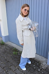 Anna Borisovna - Mango Coat, Mango Bag, Zara Pants, Superga Shoes - The Line Coat