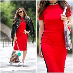 "Holy Rakoto - Bershka Dress - ""Red is the new black!"""