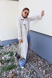 Anna Borisovna - Mango Coat, Zara Pants, Mango Bag, Superga Shoes - The Line Coat