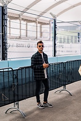 Kevin Elezaj - Vans Sneakers, Cheap Monday Jeans, Cos Shirt, Prada Glasses - Race