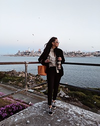 Tiffany Wang - Simon Miller Bag, Vans Sneakers, Topshop Faux Fur Jacket - WINO