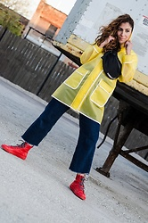 Christina N -  - Yellow Raincoat with Rain Boots