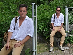 Pawel - Hugo Boss Linen White Shirt, Ltb Jeans, Feud Boots - Hello June! Hi All!