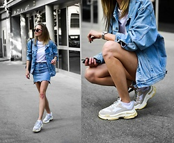 Katarina Vidd - All On My Blog, Levi's® Vintage Levi's Jacket - Double denim