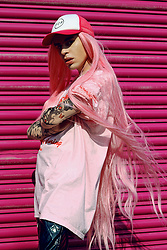 Milex X - Pcp Hat, Diva Tress Wig, Nowhr3r Top, Dirrty Town Sleeves - PINK OBSESSION