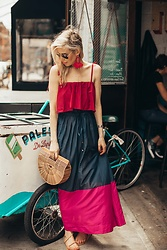 Yael Steren -  - Colorblock Maxi Dress