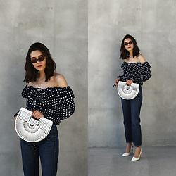 CLAUDIA Holynights - Chic Wish Top, Shuzee Bag - Polka dot and bamboo bag