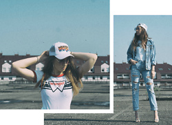 Iwona - Wrangler Cap, Custom Jeans - TOTAL DENIM