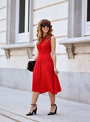 Mara M - Shein Dress - Red, red, red
