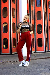 Agata Nika - Reserved Pants, Reserved Sheer Top, Adidas Wedges - No pictures please