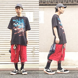 @KiD - Obey Cap, Very Graffiti Tee, Code Red Shorts, Northwave Espresso, Vivienne Westwood Cigarettes Case - JapaneseTrash424