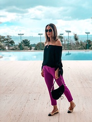 Gabi May -  - Pink/Purple Pants