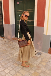 Anna Borisovna - Le Specs Sunglasses, Zara Top, Zara Bag, Zara Skirt, Nomadic State Of Mind Shoes - Sundays