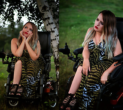 Sylwia Błach - Bonprix Maxi Zebra Dress - Animal print for brave