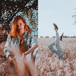 Anna Jaroszewska - Converse Sneakers, Reserved Mom Jeans, Zara Denim Jacket - FIELDS OF DENIM