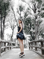 Chiemi Ito - Zara Sandals, Oribag Bag, Valfre Dress - Walk in the park