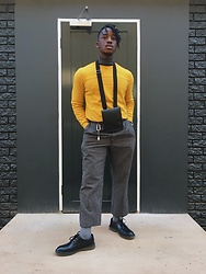 Panashe - H&M Derby Shoe, Zara Man Bag, Tommy Hilfiger Sweater, Zara Polo Neck - When I'm not wearing black