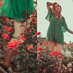 Anna Jaroszewska - Zara Romper, Converse Shoes - SWEET SCENT OF SUMMER