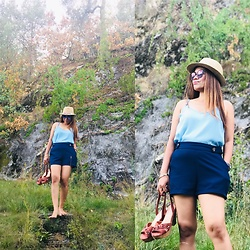 Janeth Javier - New Yorker Shorts, Primark Blouse, Ray Ban Sunglasses, Spain Hat, Marypaz Shoes - Summer look 😎