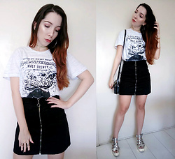 Andy F. - Forever 21 Black Skirt - Disney T-shirt