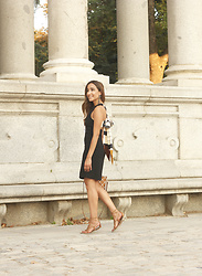 Besugarandspice FV - Mango Dress, Mango Bag - Black Summer Dress