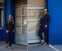 Maik - G Star Raw Overall, Massimo Dutti Sandals, Diesel Sunglasses - Racer Overall
